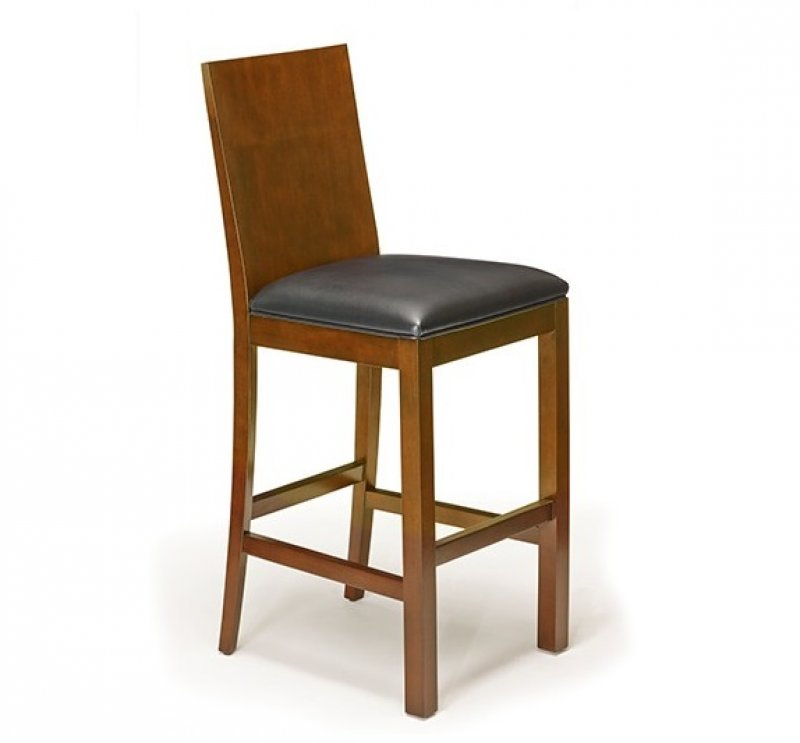 Heritage Wood Back Barstool